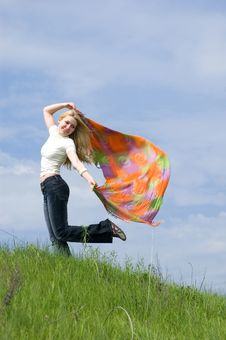 Free Girl With Scarf Stock Photos - 5528853