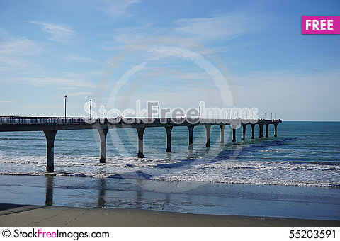 Free Pier At Christchurch, New Zealand Stock Image - 55203591