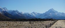 Free Footsteps Of Lord Of The Rings: Mount Cook New Zealand Stock Photo - 55202410