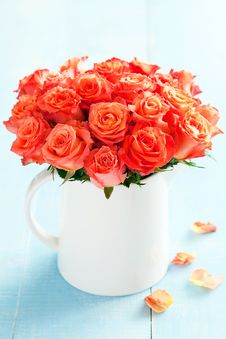 Free Bouquet Of Roses Stock Photo - 55210830