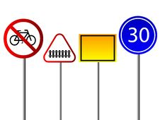 Free Signs For Traffic Stock Image - 5530701