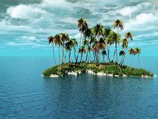 Free Palm Island Stock Image - 5530901