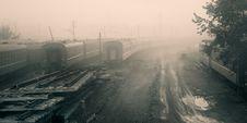Railroad Dead-end Stock Photo