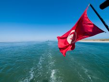 Free Waving Tunisian Flag Stock Photo - 5531320