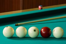 Free Billiard-balls And Cue Royalty Free Stock Image - 5531666