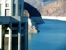 Free Hoover Building With Lake Mead In The Background Stock Photo - 5532350