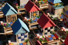 Free The Colorful Plaster Toy Houses Royalty Free Stock Image - 5532996