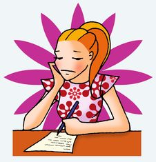 Free Letter Girl 04 With Background Stock Images - 5533104