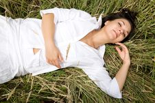 Free Relaxing Woman Royalty Free Stock Photo - 5533145