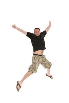 Free Jumping Man Stock Photography - 5533162