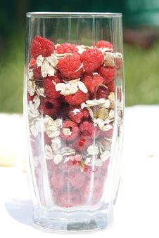 Free Raspberry With Oat Flakes Royalty Free Stock Photos - 5533318