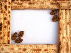 A Frame Of Matzo With Crackers Royalty Free Stock Photo