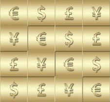 Free Four Different Currencies Signs Stock Photo - 5533840