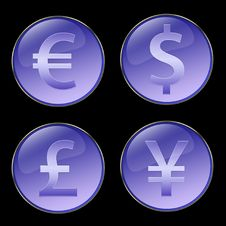 Free Currencies Signs Buttons Royalty Free Stock Photo - 5533865