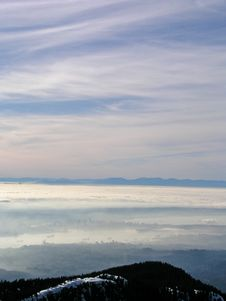Vancouver In The Fog Royalty Free Stock Photography