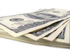 Free Stack Of $ 100 Bills Stock Image - 5534331