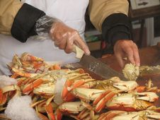 Free Cutting Crab Meat Royalty Free Stock Photography - 5534687