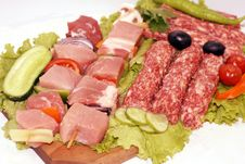 Free Raw Grill Meat Pack Royalty Free Stock Image - 5535266