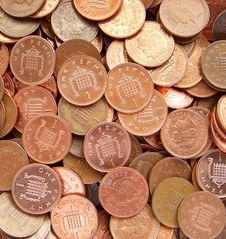 Piled Coins Royalty Free Stock Photography