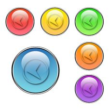 Free Back Button Set Stock Image - 5535471