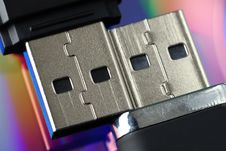 Free Two USBs Stock Photography - 5535522