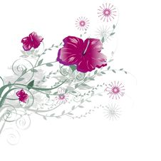 Free Floral Background Royalty Free Stock Photos - 5535588