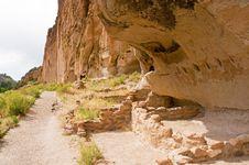 Prehistoric Cliff Dwellings Stock Photo