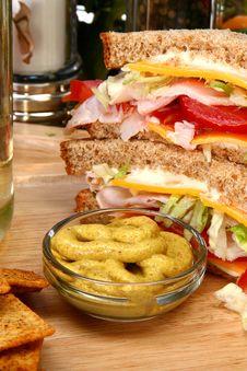 Free Turkey Sandwhich In Kitchen Stock Photos - 5535663