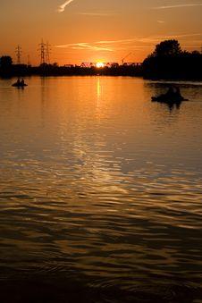 Sunset In Oradea 3 Stock Image