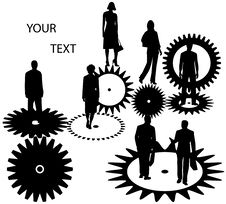Free Business People And Cogwheels Royalty Free Stock Photos - 5535848