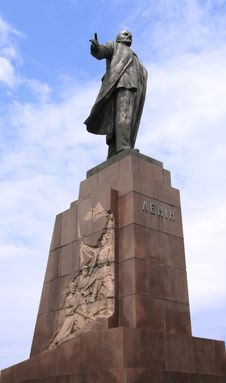 Free Lenin Statue Royalty Free Stock Photography - 5536277