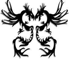 Free Black Twin Dragon Stock Photos - 5537043