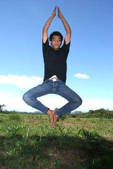 Man Jumping Royalty Free Stock Photography