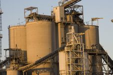 Texas Cement Factory Royalty Free Stock Images
