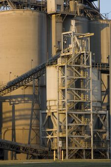 Texas Cement Factory Royalty Free Stock Image