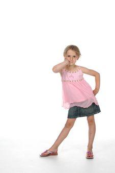 Free Cute Girl Standing Stock Photo - 5537990