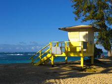 Free Life Guard Hut In Hawaii Stock Photography - 5538672