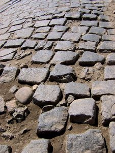 Free Cobbled Stone Road Royalty Free Stock Photo - 5538855