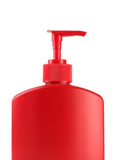 Free Red Soap Bottle Stock Images - 5538954