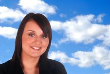 Smiling Business Woman Royalty Free Stock Images