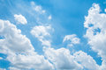 Free Cloud On Blue Sky Background Stock Images - 55342374