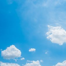 Cloud On Blue Sky Background Stock Images