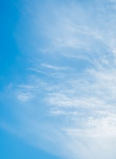Cloud On Blue Sky Background Royalty Free Stock Photos