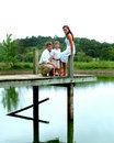 Free Siblings On Pier Royalty Free Stock Photo - 5549815