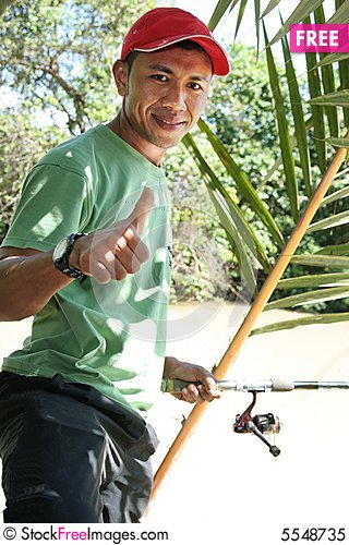 Free Fishing, Hobby At Weekend Royalty Free Stock Photo - 5548735