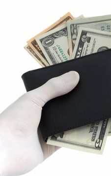 Free Holding A Wallet Royalty Free Stock Images - 5540169