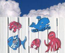 Free Happy Sea Creatures Royalty Free Stock Photos - 5540268