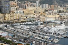Free Monte-Carlo City And Harbor View Stock Images - 5540694