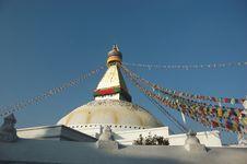 Free Boudhanath Stupa In Kathmandu Royalty Free Stock Images - 5541479