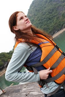 Free Woman Wearing A Life Jacket Stock Photography - 5542152